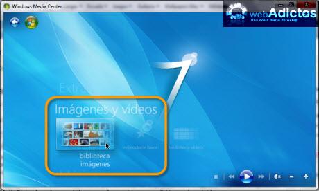 imagenes windows media center Editar imagenes en Windows Media Center