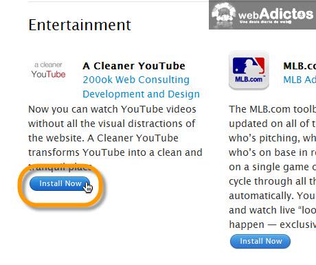 instalar a cleaner youtube Ver videos de YouTube sin distracciones en Safari