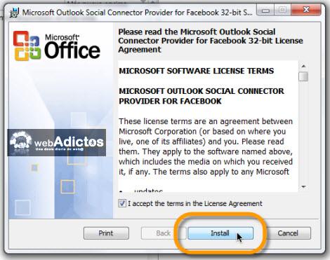 Revisa tu Facebook desde Outlook 2010 - instalar-social-connector
