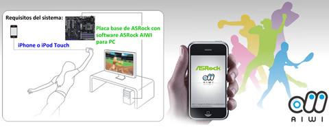 Convierte tu iPhone en un control tipo Wii con ASRock AIWI - iphone-wii