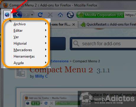 menu compacto firefox Compacta tu barra de herramientas en Firefox