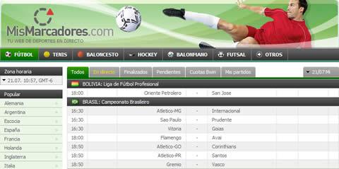 mismarcadores Resultados de futbol, mismarcadores.com