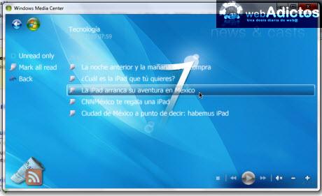 Accesa a tus RSS desde Windows Media Center - noticias-media-center
