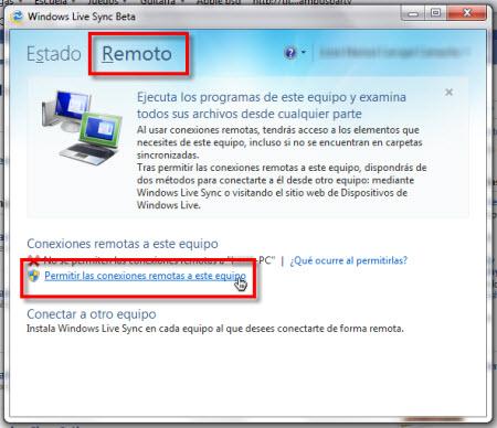 Configurar Windows Live Sync Beta - permitir-conexiones-remotas