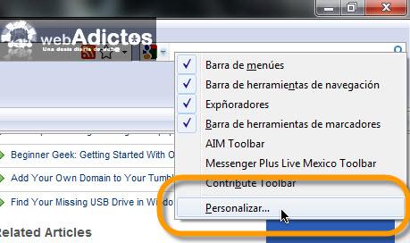 Añadir botón de Reinicio Rápido en Firefox - personalizar-barra-menus-firefox