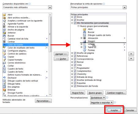 Personalizar pestañas de Office 2010 - personalizar-herramientas-office-2010