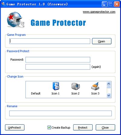 poner password programas Poner contraseña a juegos, Game Protector