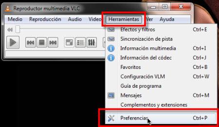 Colocar un video como fondo de pantalla - preferencias-vlc