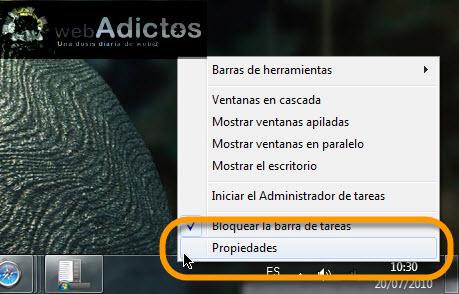 Mostrar el menú Inicio en vista expandida en Windows 7 - propiedades-barra-de-tareas