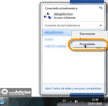 propiedades de red ad hoc Crear una red entre varios equipos en windows 7