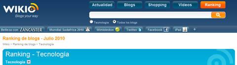 Ranking blogs de tecnología Julio 2010 - ranking-blogs-wikio