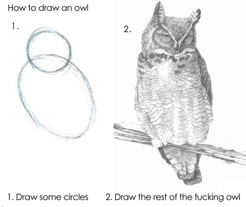 Como dibujar un Búho en dos pasos - Como-dibujar-un-buho