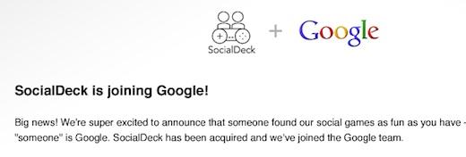 Google compra a la empresa SocialDeck - Google-Socialdeck