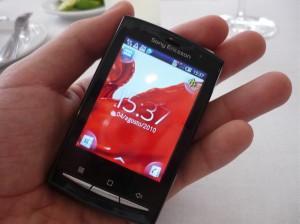 Nueva gama de celulares Sony Ericsson Xperia - Hands-on-Xpreria-Mini-Pro-300x224