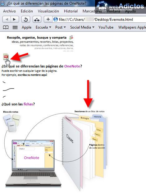 abrir nota html Exportar tus notas de Evernote a formato HTML