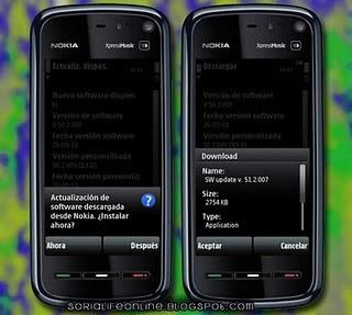 actualizacion nokia 5800 Actualización para Nokia 5800, Firmware 51.2.007