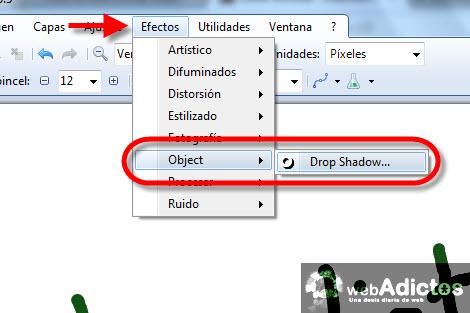 Colocar una sombra en Paint.NET - agregar-sombra-paintnet