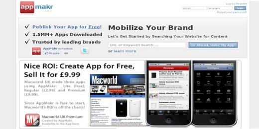 appsmakr Crea una aplicación para iPhone gratis con Appmakr
