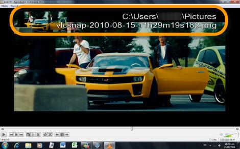 captura pelicula vlc Tomar capturas de una película con VLC