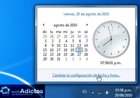 Agregar un segundo reloj en Windows 7 - configuracion-reloj-windows-7