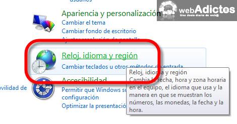 Cambiar el formato de la fecha en Windows 7 - configurar-fecha-windows7