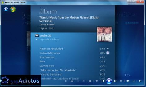 Crear una lista de reproducción en Windows Media Center - copiar-cd1