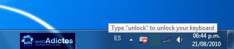 Bloquear tu teclado con un atajo en Windows - desbloquear-teclado1