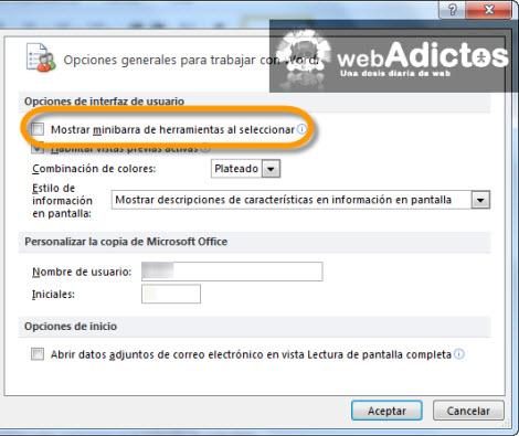 Deshabilitar la minibarra de herramientas en Office 2010 - deshabilitar-minibarra-herramientas-office-2010