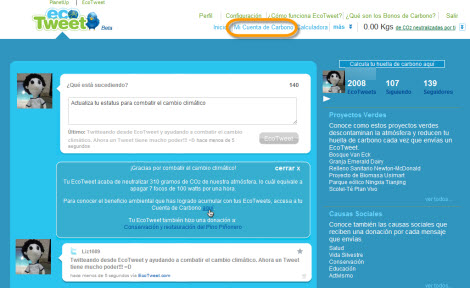 Ayuda al medio ambiente con tus tweets y EcoTweet - ecotweet2