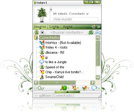 Abrir messenger con Instan-T Messenger - entrar-messenger