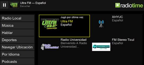 Estaciones de radio locales en RadioTime - escuchar-radio