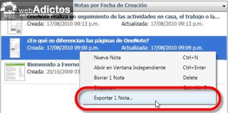 Exportar tus notas de Evernote a formato HTML - exportar-nota-html