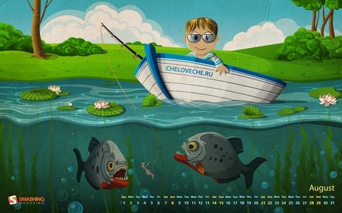 Fondos de pantalla, Agosto 2010 - fondos-gratis-piranha-fishing