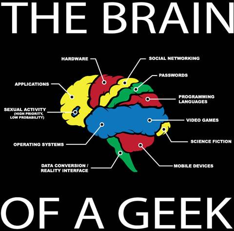 geek Cerebro de un geek