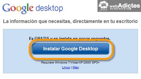 Agregar Google Gadgets en tu escritorio - google-desktop