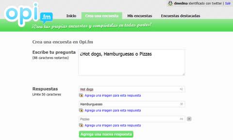 hacer encuestas Hacer encuestas y compartirlas con Opi.fm