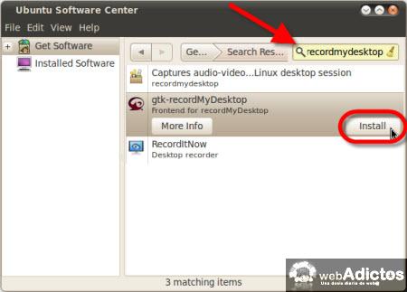 Graba la actividad de tu escritorio en Ubuntu - instalar-recordmydesktop