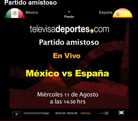 mexico espana en vivo Mexico vs España en vivo