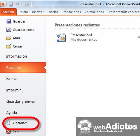 Agregar páginas de internet en Power Point - opciones-power-point