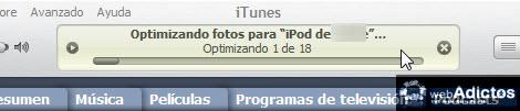 Sincronizar imagenes con tu iPod/iPhone en iTunes - optimizar-fotos-ipod