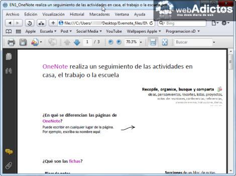 pdf en nota html Exportar tus notas de Evernote a formato HTML