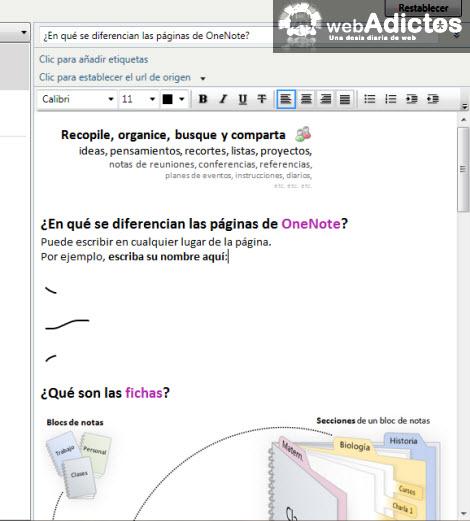Importar una nota de OneNote 2010 a Evernote - pegar-nota-onenote