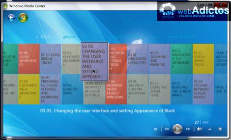 peliculas agregar windows media player Agregar carpetas de películas a la librería de Windows Media Center