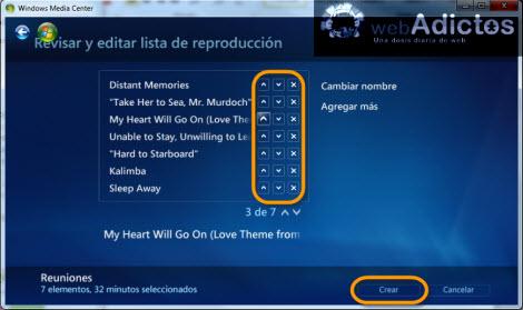 Crear una lista de reproducción en Windows Media Center - revisar-lista-reproduccion-windows-media-center