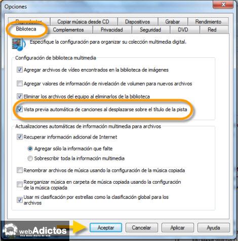 Configurar Vista Previa de Canciones en WMP12 - vistaa-previa-automatica-wmp