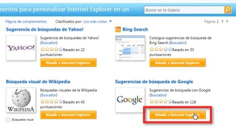 19 09 2010 08 46 50 a.m. Como cambiar el motor de búsqueda de Internet Explorer 9
