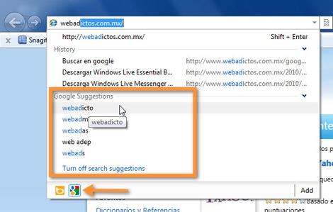 19 09 2010 08 48 45 a.m. Como cambiar el motor de búsqueda de Internet Explorer 9