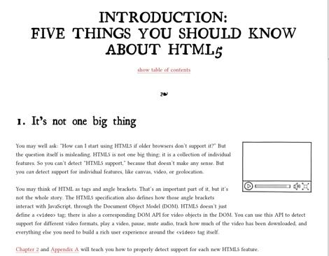 Dive into HTML5, deja claro qué es HTML5 - Dive-into-html5-excelente-lectura