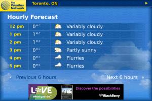 aplicaciones blackberry clima Programa blackberry del Clima, WeatherEye