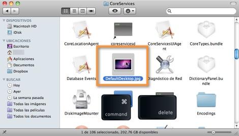 borrar imagen fondo Cambiar el fondo de inicio de sesión en Mac OS X